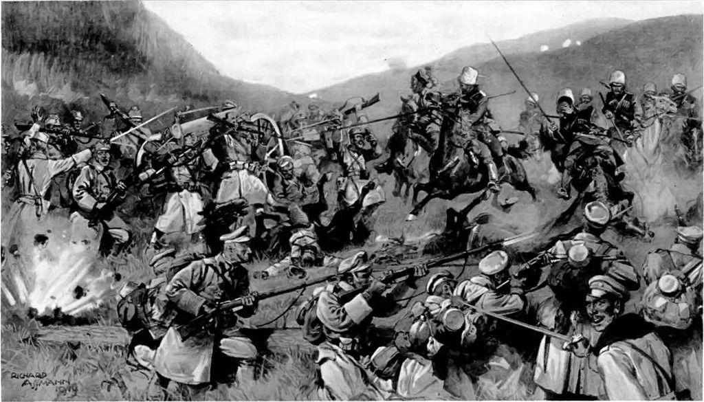Ena izmed frontnih bitk na Ogrskem. Foto: Wikimedia