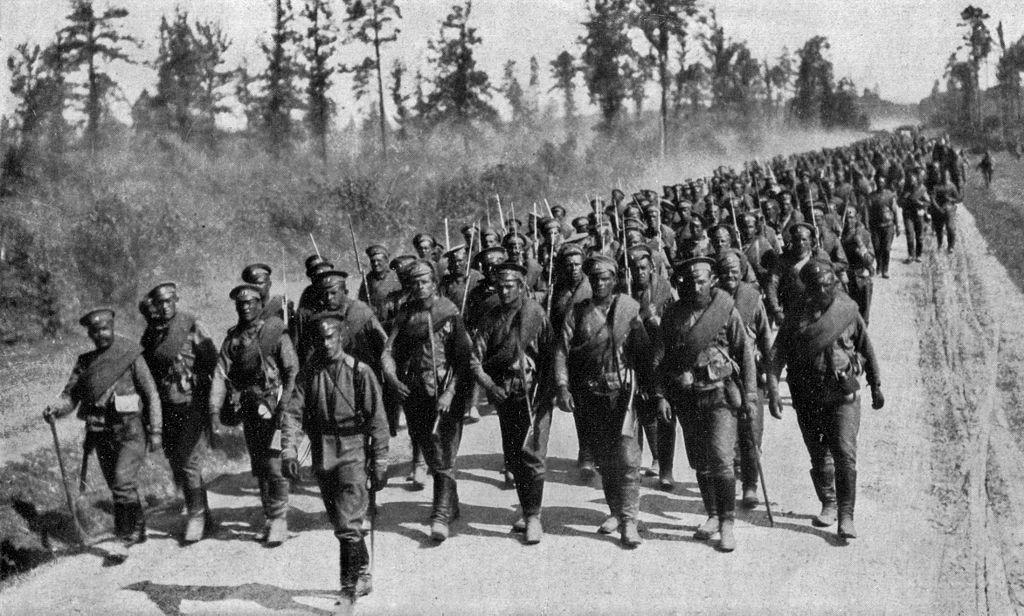 Ruske enote na poti na Vzhodno fronto. Foto: Wikimedia