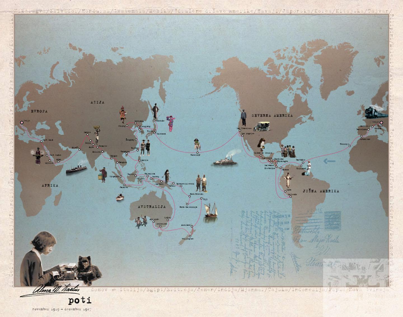 Almina potovanja po svetu. Foto: pokmu-ce.si