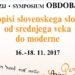 Simpozij Obdobja: Rokopisi slovenskega slovstva od srednjega veka do moderne