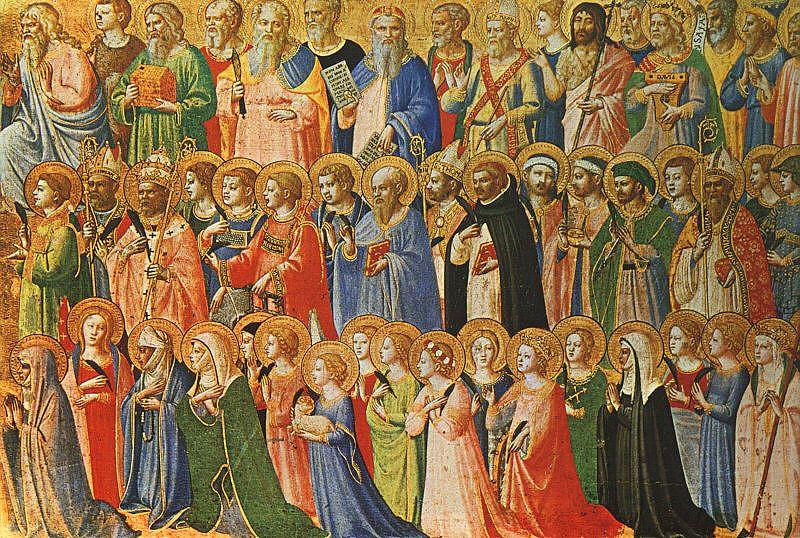 Fra Angelico: Slika Jezusa z vsemi svetniki iz 15. stoletja. Foto: Wikimedia