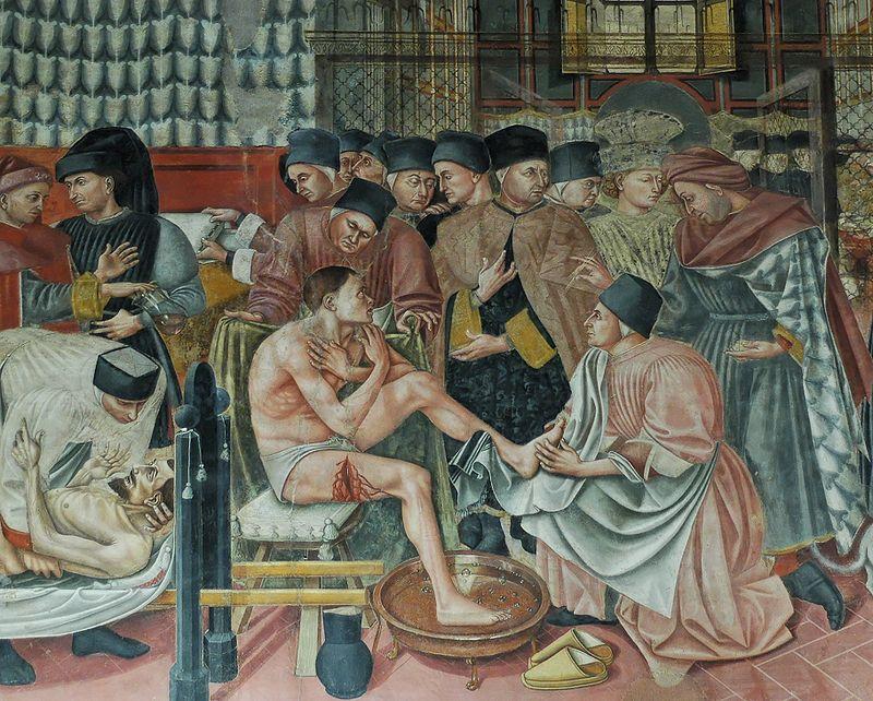 Freska Domenica di Bartola: Bolnišnica v Santa Maria della Scala. Foto: Wikimedia