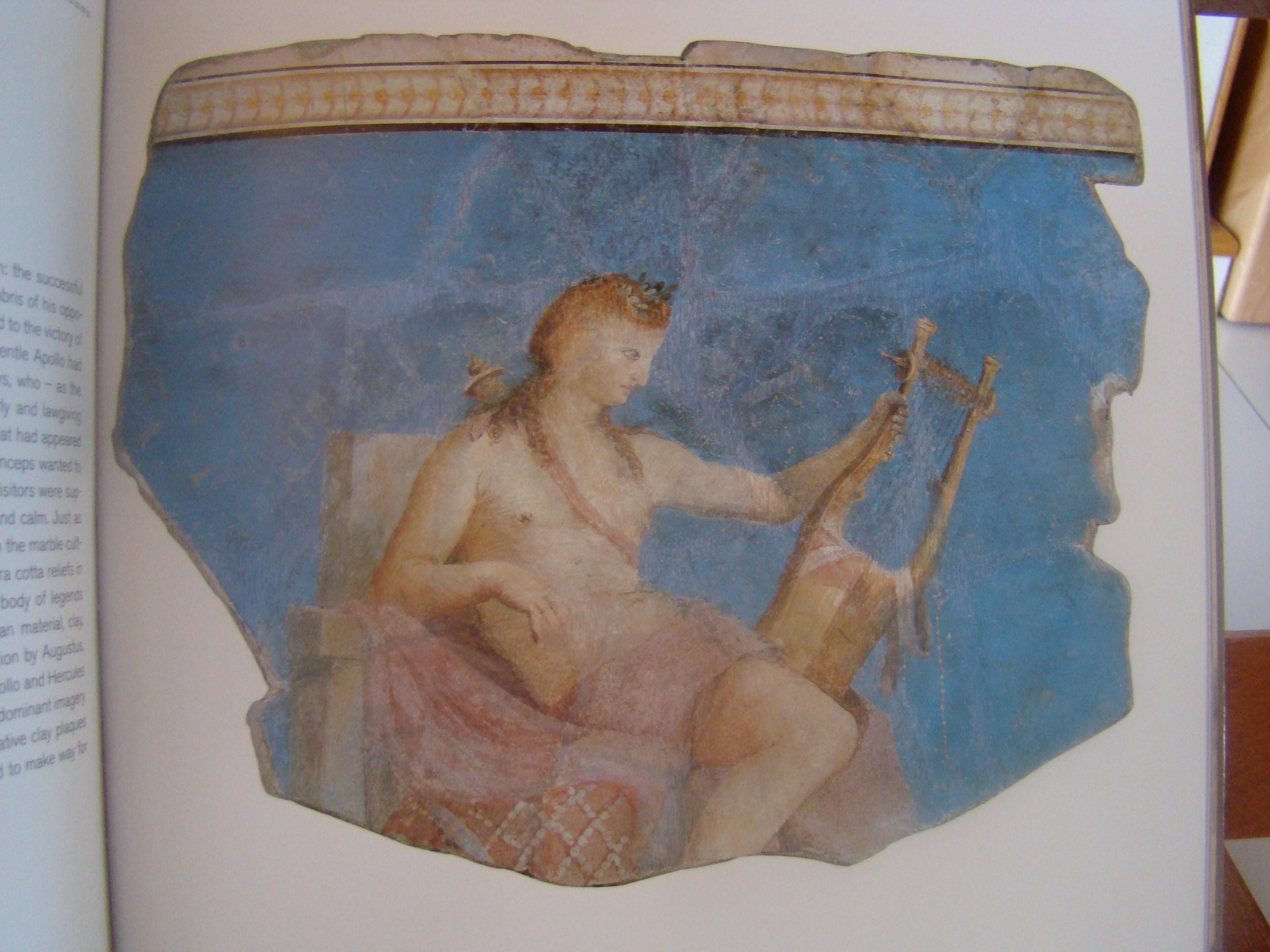 Slika 6: Apolon z liro ali kitharo Fragment freske, Rim, ok. 28 pr. n. št.