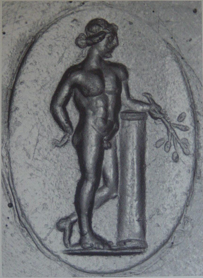 Slika 5: Apolon z vejico lovorja Gema, 3. – 2. stol. pr. n. št.