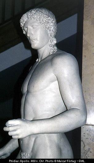 Slika 1: Apolon Kipar Fidija, 460 pr. n. št.