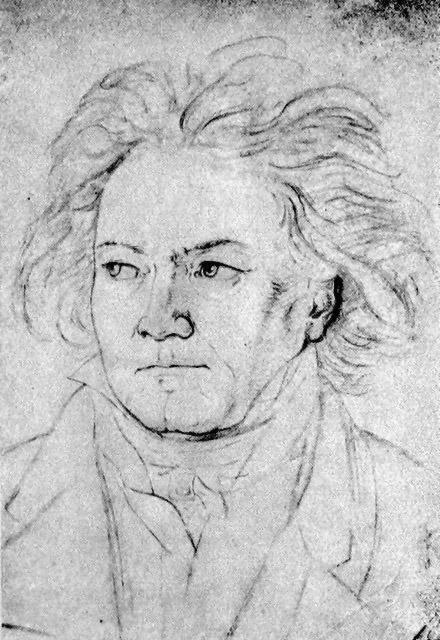 August Klöber: Beethoven leta 1818. Foto: Wikimedia