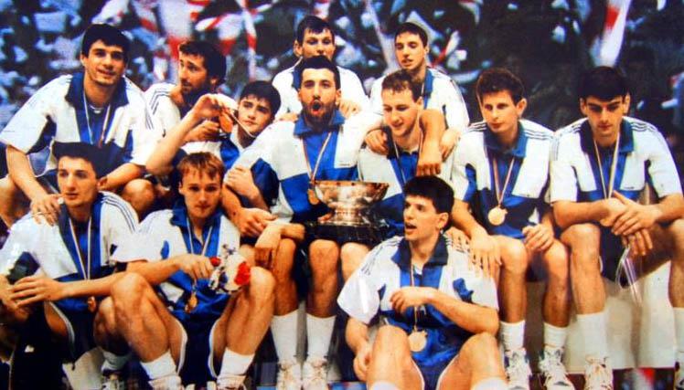 Zmagovalna ekipa Jugoslavije leta 1990. Foto: Wikimedia