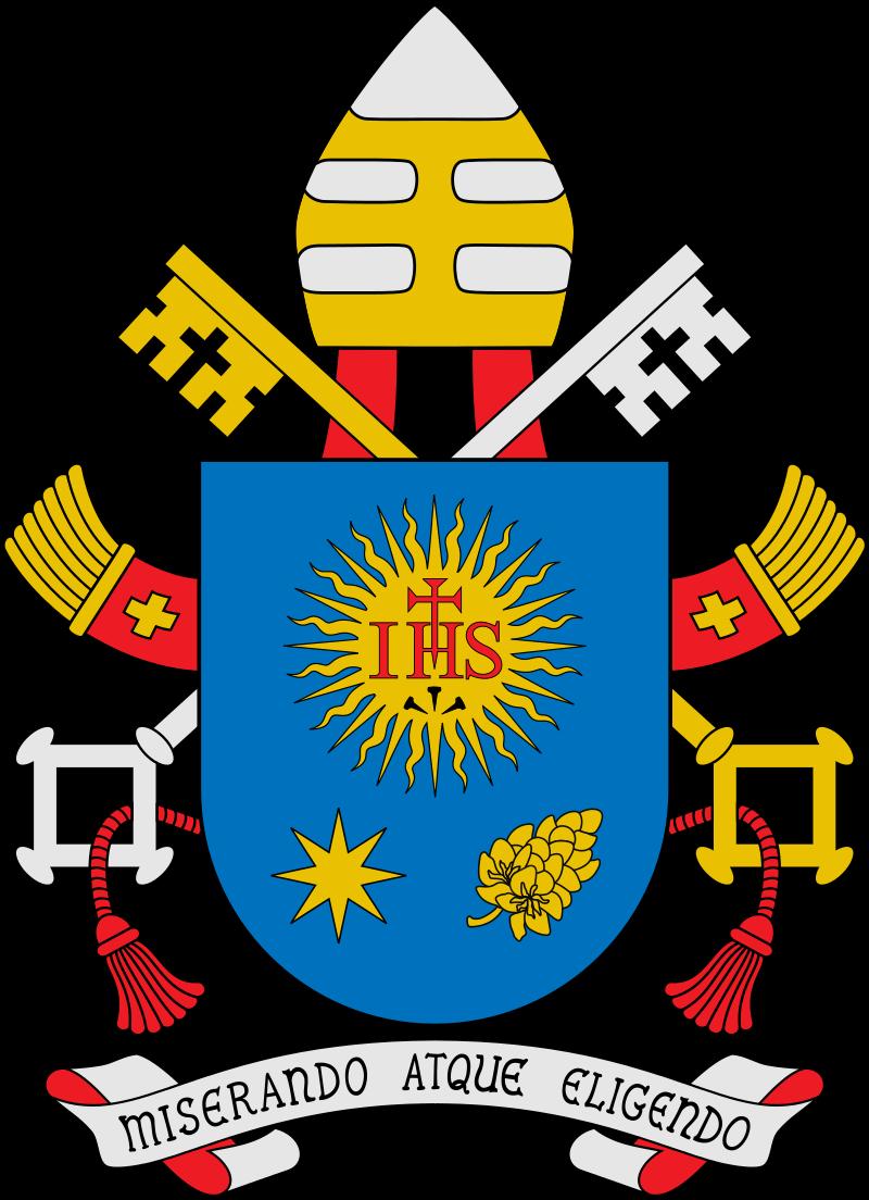 Papeški grb, ki ga ima sedaj kot papež Frančišek. Foto: Wikimedia