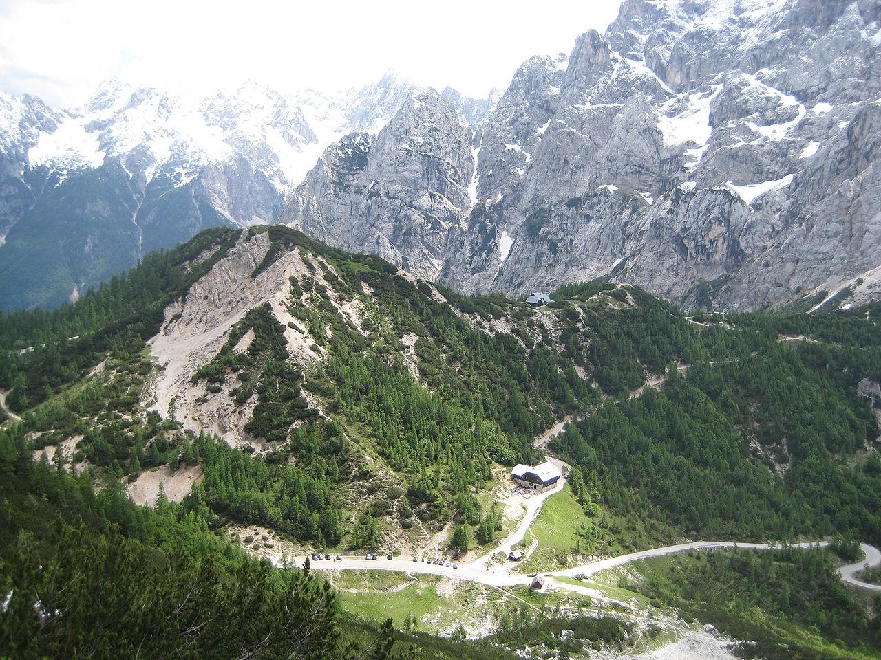 Prelaz Vršič. Foto: Wikimedia