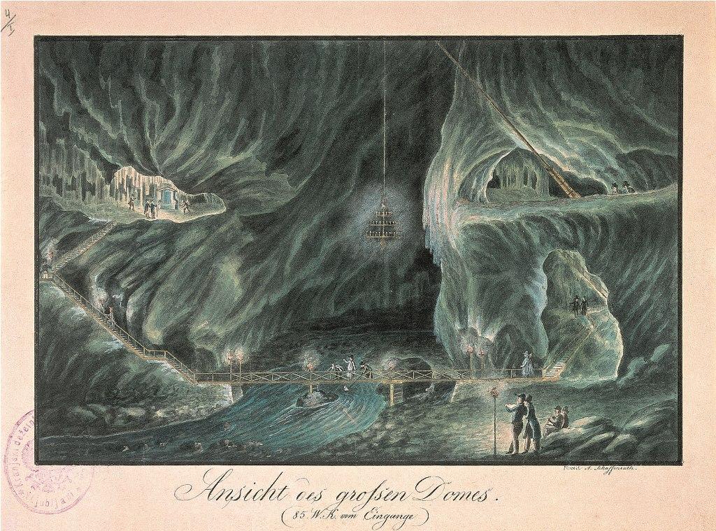 Razglednica Postojnske jame. Foto: arhiv.postojna.si