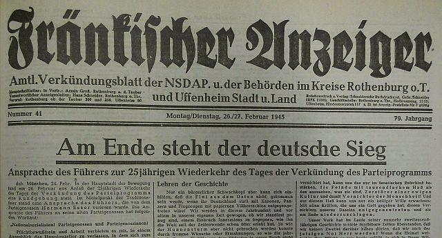 Propaganda in samomori v Nemčiji ob koncu druge svetovne vojne