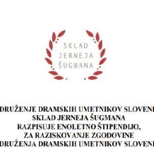 Razpis za štipendijo – raziskovanje zgodovine Združenja dramskih umetnikov Slovenije