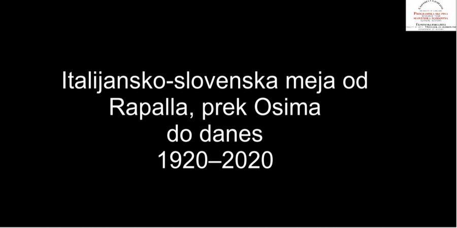 Italijansko-slovenska meja od Rapalla prek Osima do danes (1920–2020)