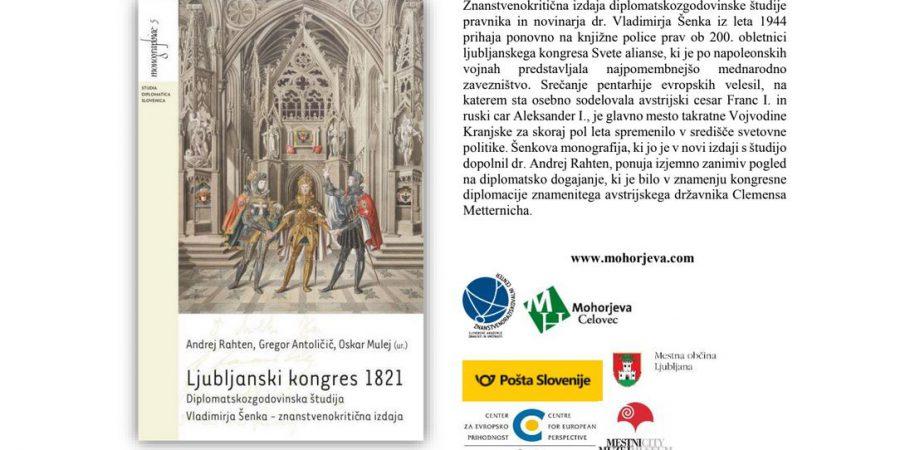 Predstavitev knjige: Ljubljanski kongres 1821